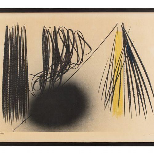 Hans HARTUNG (1904 1989) L 1970 21, 1970  Lithographie en couleurs, épreuve sign…
