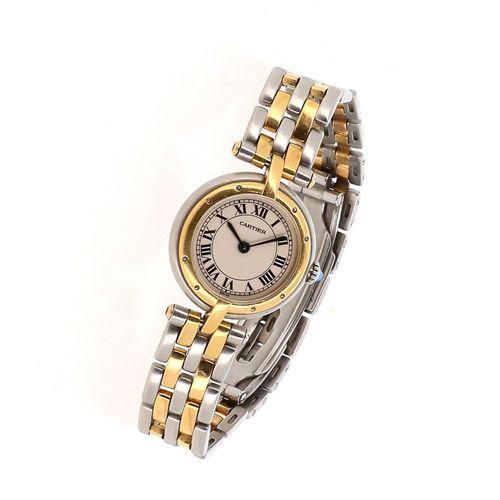 CARTIER  Montre bracelet de femme modèle Panthère Vendôme, en acier et or, cadra…
