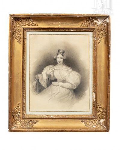 Louis Eugène COEDES (1810 1906). Portrait de la Duchesse de Berry à Blaye (1833)…
