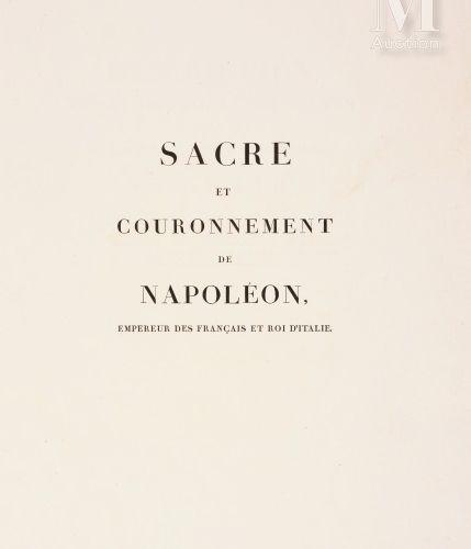 PERCIER (Charles) & FONTAINE (Pierre François Léonard), Description des cérémoni…