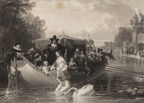Charles Ier, roi d'Angleterre (1600 1649). Grande estampe d'après Frederick Good…
