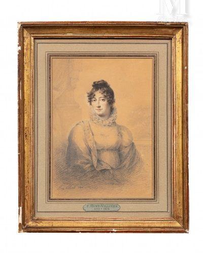 F. Paul HUET VILLIERS (1772 1813). Portrait de Marie Thérèse Charlotte de France…