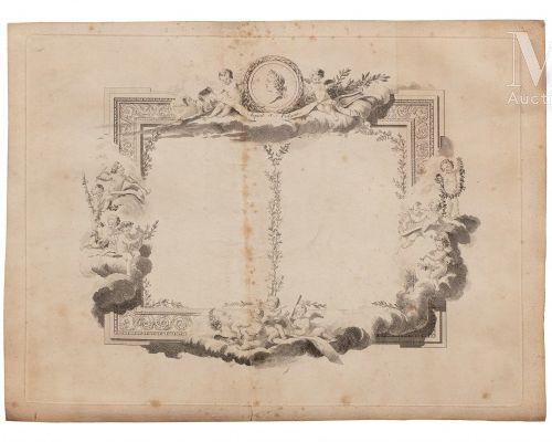 Louis XV, roi de France et de Navarre. Projet de menu ou de pièce de théâtre cha…
