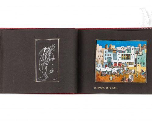 KIRBY (John) Album de peintures. Sl, , 1958  Bel album d'un journal de voyage au…