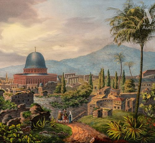 Vue de la mosquée d'Omar à Jérusalem Titre original : Omar's Moschee in Ierusale…