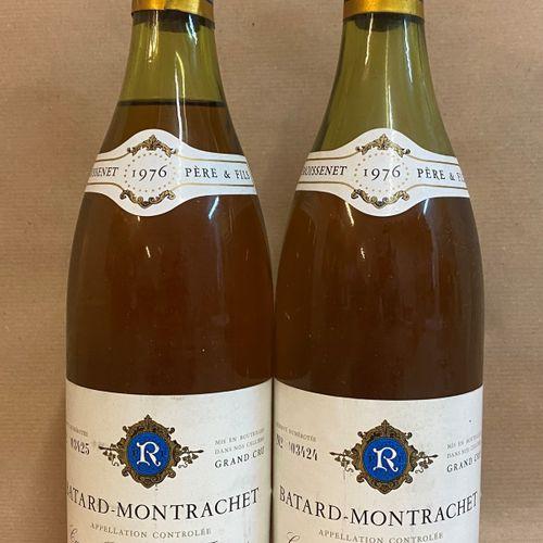 2 bouteilles BÂTARD MONTRACHET, Remoissenet 1976 (1 Moyennement Basse, 1 Vidange…