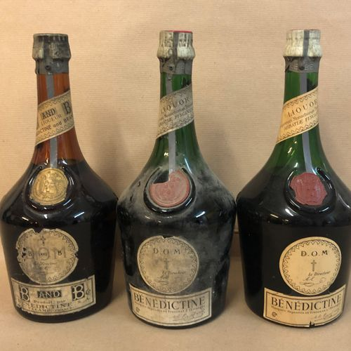 3 bouteilles BÉNÉDICTINE