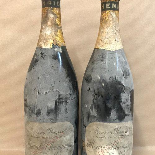 2 bouteilles MARC de Champagne, Henriot (de ses vignobles, très vieux, Moyenneme…