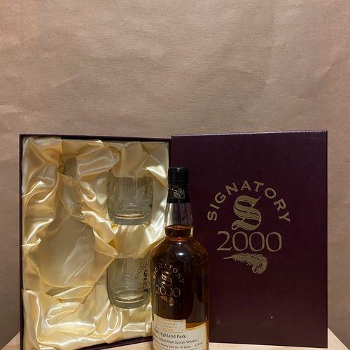 "1 bouteille SCOTCH WHISKY ""Hignland Park Millenium Edition"", The Signatory Vinta…"