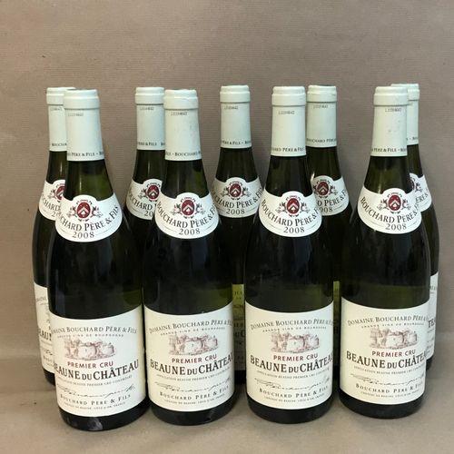 """9 bouteilles BEAUNE """"du Château 1er cru"""", Bouchard P&F 2008"""