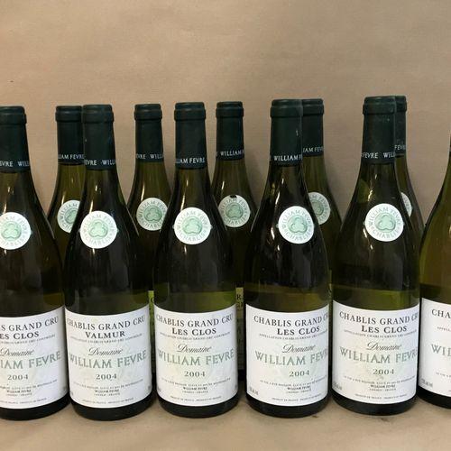 """12 bouteilles CHABLIS """"Les Clos"""", W. Fèvre 2004"""