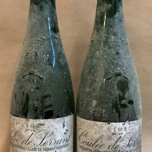 """2 bouteilles SAVENNIÈRES """"Clos de la Coulée de Serrant"""", Nicolas Joly 1998 (étiq…"""