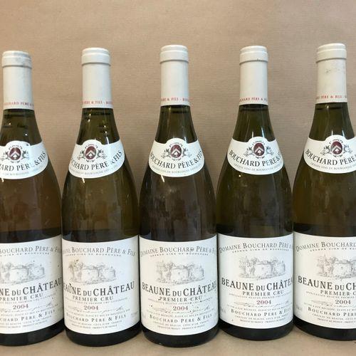 """5 bouteilles BEAUNE """"du Château 1er cru"""", Bouchard P&F 2004"""