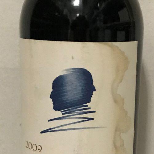 """1 bouteille NAPA VALLEY """"Opus One"""", 2009 (étiquette tachée)"""