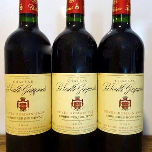 3 bouteille CORBIERES Ch. Voulte Gasparets 2009 (2 étiquette abimée)