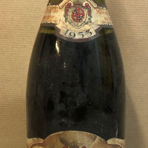 1 bouteille CHASSAGNE MONTRACHET Ch. De la Maltroye 1953 (étiquette tachée, Bass…