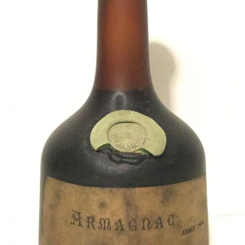 1 bouteille ARMAGNAC Peuchet 1904 (étiquette abimée, bon niveau)