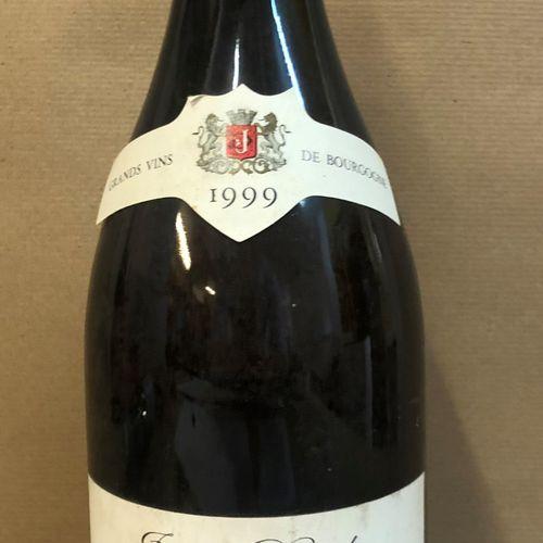 """1 magnum MONTRACHET """"Marquis de Laguiche"""", J. Drouhin 1999 (étiquette tachée, ét…"""