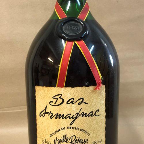 """1 pot (2.5L) BAS ARMAGNAC """"Vieille Réserve"""", George Tastet 1961 (Légèrement Bass…"""