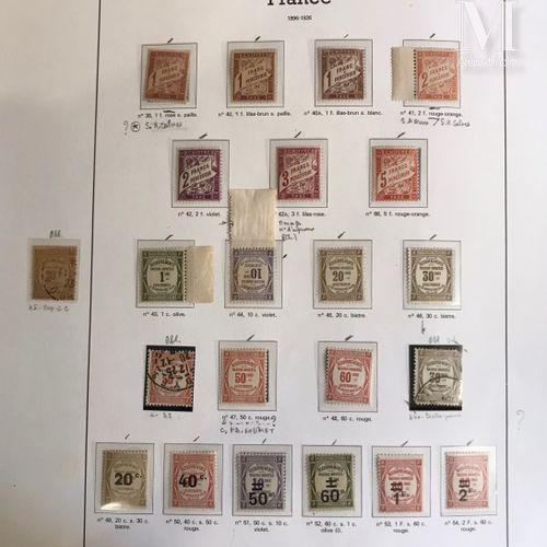 Timbre taxe, collection présentée sur feuilles d'Album. Timbres types plus quelq…