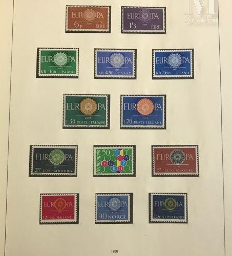 Europa. Collection 1956 1989 et 1992 1992, les années 1978 à 1988 en doubles **.…