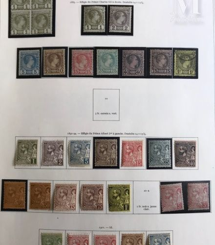 MONACO. Collection présentée en 2 volumes Yvert, des origines à 1981, Poste P.A,…