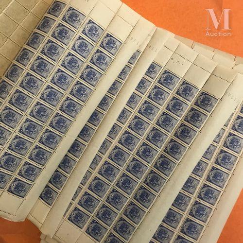 Petit ensemble de timbres en feuilles, période 1940 1941 principalement, dont 25…