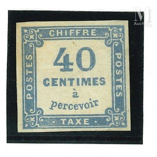 Taxe n°8a Outremer signé*. Un pelurage camouflé  Cote 8500.