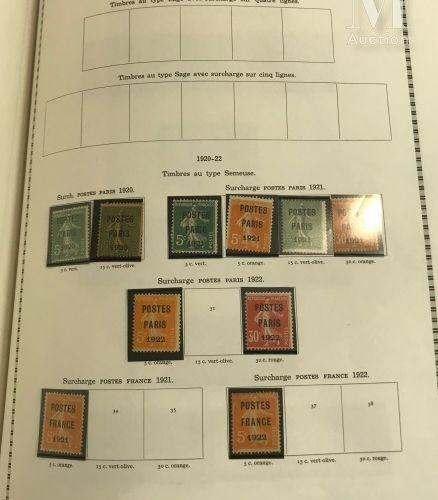 Collection en 2 volumes 1900 1995. Poste P.A, B.F, taxe et après catalogue Ø, *,…