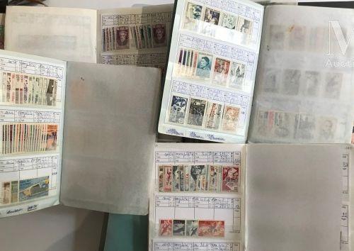 2 classeurs et 17 carnets à choix France, EUROPE, MONACO **, *, Ø.