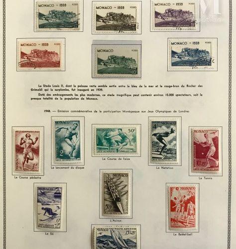 MONACO. Collection présentée en un album THIAUDE *, Ø, des origines à 1988, Post…