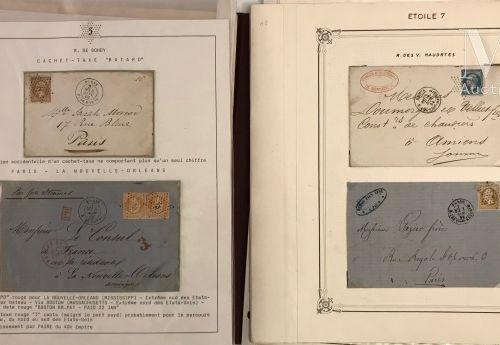 Collection sur timbres détachés Ø, ETOILE DE PARIS, présentée sur feuilles, clas…