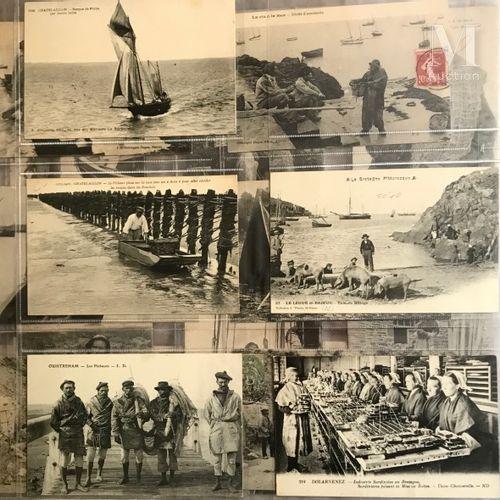 2 Albums modernes C.P.A Bretagne, Normandie. Illistrateur dont KIRCHNER, et dive…