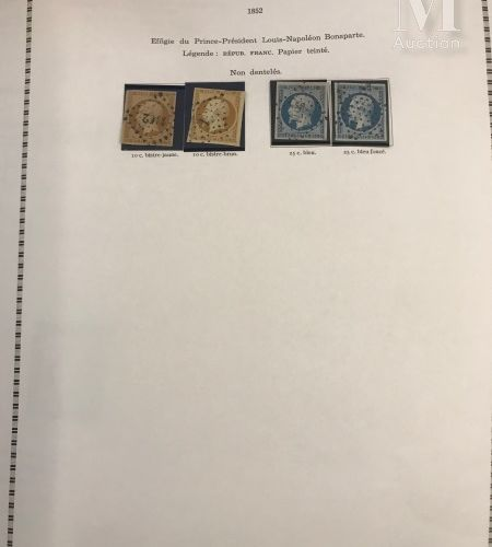Collection en 1 volume 1849 1900. Poste, taxe Ø, *. Ensemble de qualité aléatoir…
