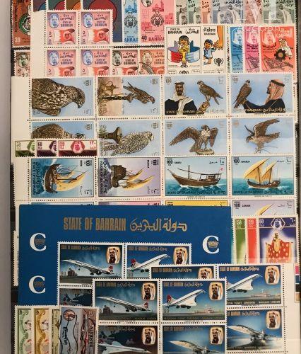 Pays du Golfe persique, Asie, DOM TOM, ensemble présenté en 6 classeurs. Accumul…