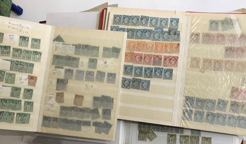 Accumulation présentée en 3 classeurs et des enveloppes Ø, période classique Ø, …