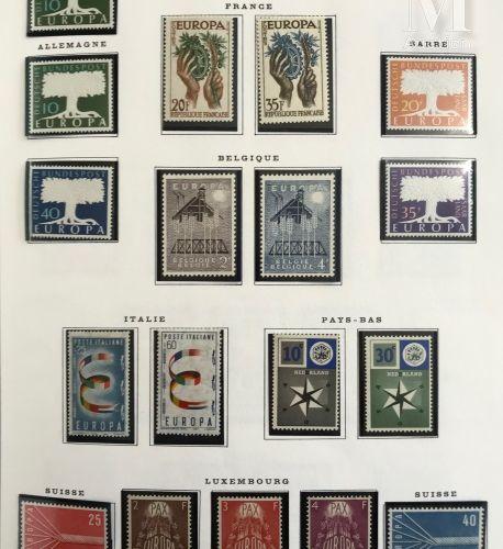 Europa. Collection présentée en 2 volumes 1956 2009. Complet ** dès 1962 avant m…