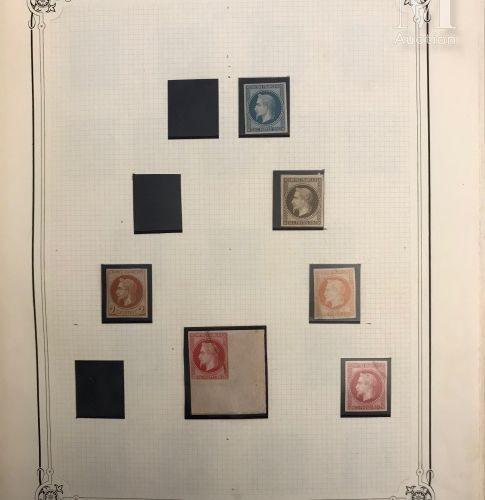 Collection 1849 1875, timbres types. Réimpréssion, essais aux types non adoptés …