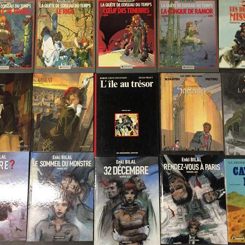 Ensemble d'albums de bandes dessinées :  35 albums de divers illustrateurs conte…