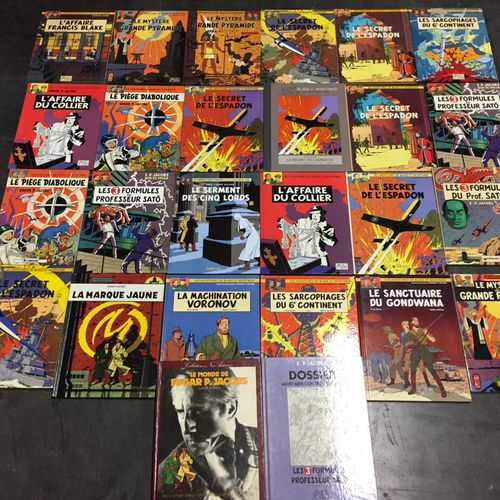 Ensemble d'albums de bandes dessinées :  25 albums de Blake et Mortimer. JACOBS.…