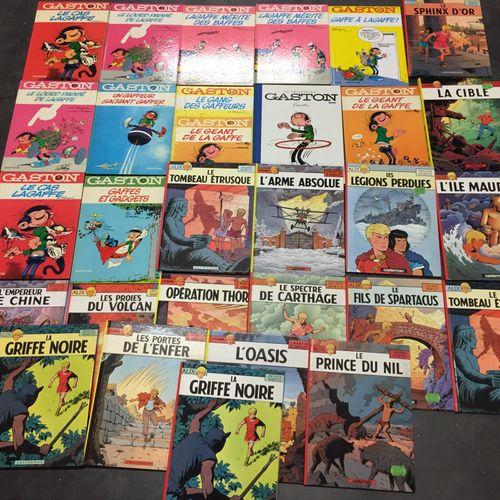 Ensemble d'albums de bandes dessinées :  25 albums de Alix (MARTIN), Gaston (FRA…