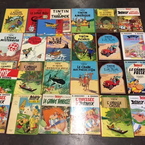 Ensemble d'albums de bandes dessinées :   40 albums d'Astérix et Obélix et Tinti…