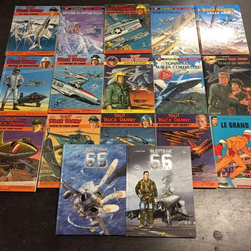 Ensemble d'albums de bandes dessinées :  35 albums divers… Buck Danny, Flottille…