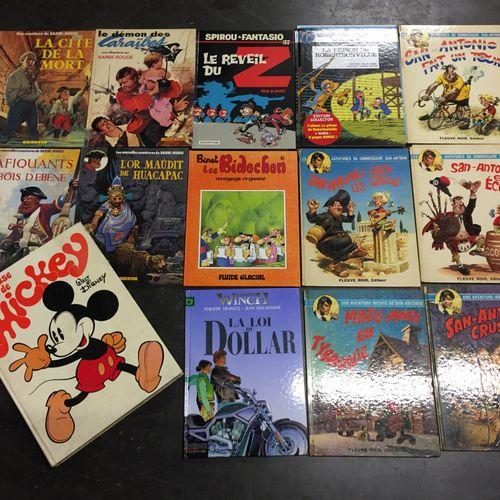 Ensemble d'albums de bandes dessinées :  60 albums divers… Spirou, Ric hochet, B…
