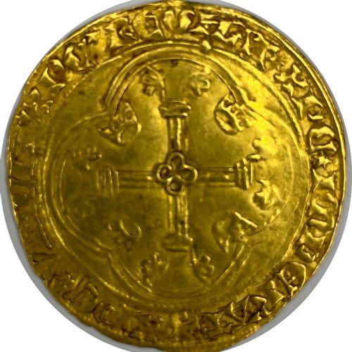 France – Charles VII (1422 1461)  Un Écu d'or (Tournai)  A : Écu de France couro…