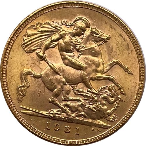 英国 乔治五世 (1910 1936)  一个主权国家 1931年  答:乔治五世左侧的裸体头像  R:圣乔治杀了一条龙  材质 : 金917/1000  重量…