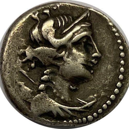 马赛 (公元前220 200年)  一个轻巧的德拉克马  A : 右边是阿耳特弥斯的半身像  R:狮子在左侧,铭文为MAZZA  条件 : B  重量:2,65…