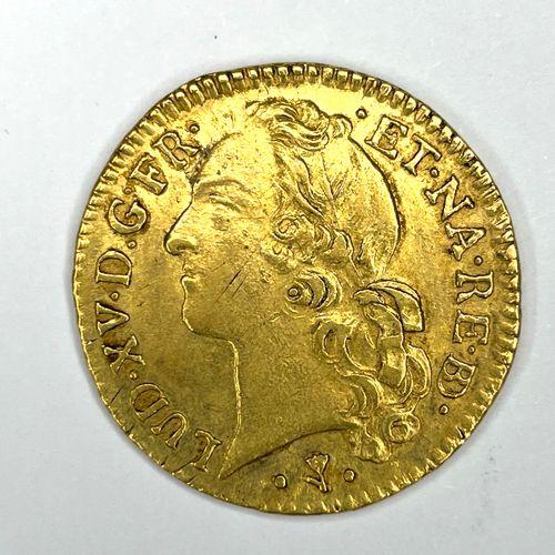 France – Louis XV (1715 1774)  Un Louis d'or du Béarn au bandeau 1768 PAU  A : T…