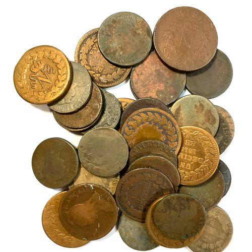 France – Divers  Important lot de monnaies divers comprenant majoritairement des…