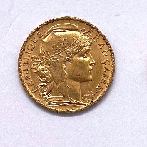 France Cinquième République  Lot de cinq monnaies de 20 Francs Coq Marianne  A :…